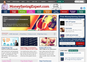 The MoneySavingExpert.com homepage